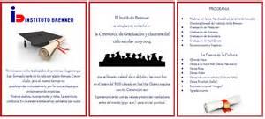invitaciones de graduacion de secundaria invitaci 211 n a graduaci 211 n instituto brenner