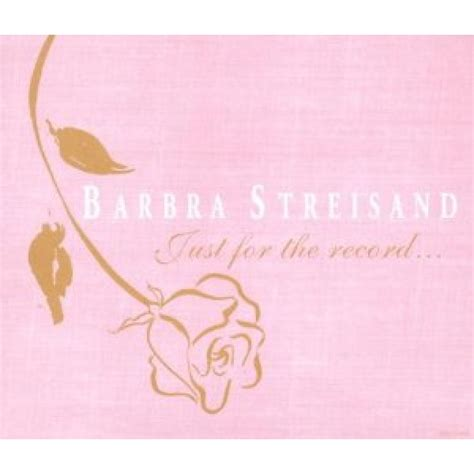 barbra streisand you ll never know cd barbra streisand just for the record 4 cd s