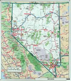 detailed map of cities and towns large detailed roads and highways map of nevada state with