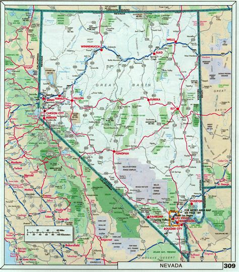 usa map with highways and cities large detailed roads and highways map of nevada state with