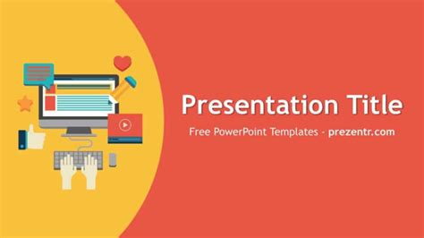 marketing presentation template free content marketing powerpoint template prezentr