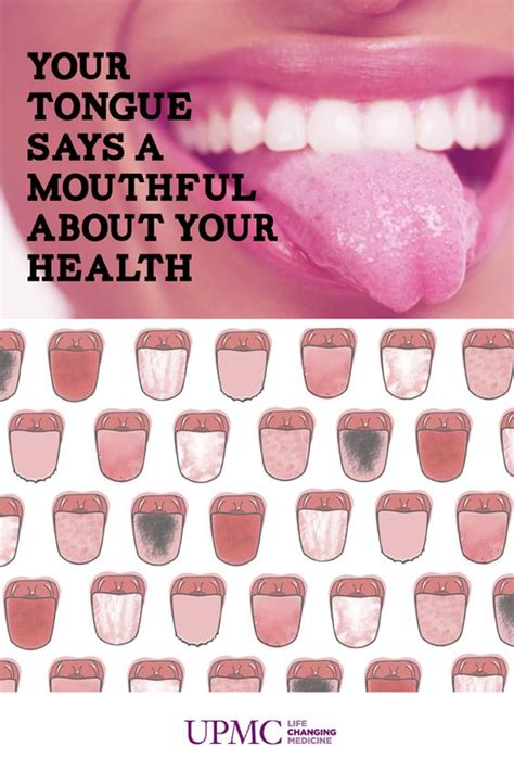 what color should your tongue be what does your tongue say about your health infographic