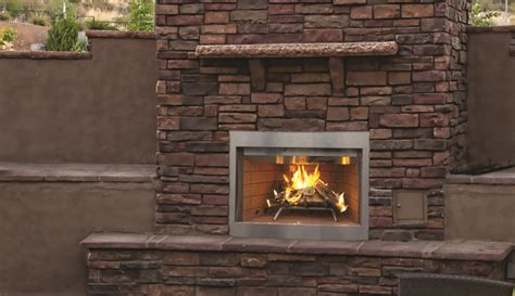 Superior Wre3800 Outdoor Wood Burning Fireplaces With Purefire Outdoor Wood Fireplace Insert