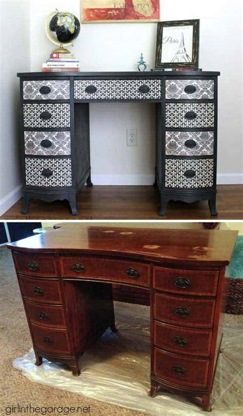 furniture makeovers 27 cool diy furniture makeovers with wallpaper amazing diy interior home design