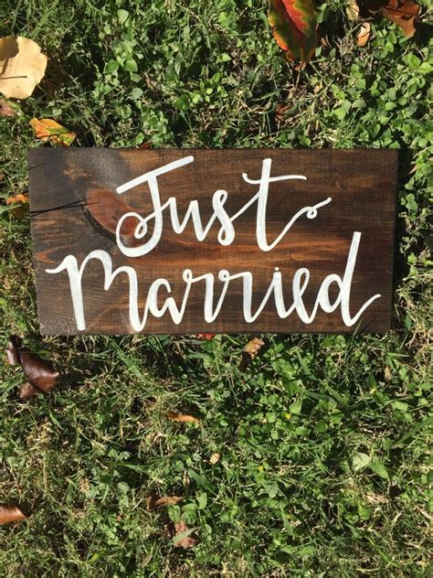 Wedding Just Married by Just Married Sign Wedding Decorations Rustic Wedding