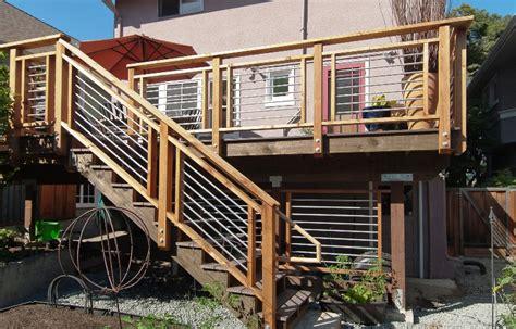 deck railing ideas cool looking cost efficient deck
