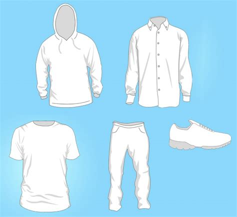 clothing templates free vector graphics free vector clip packs