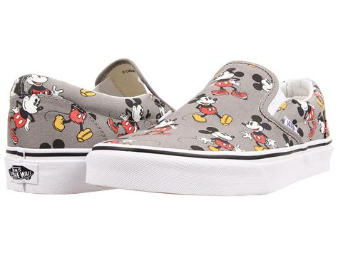 Vans Mickey Mouse vans disney 174 classic slip on disney mickey mouse gray zappos free shipping both ways