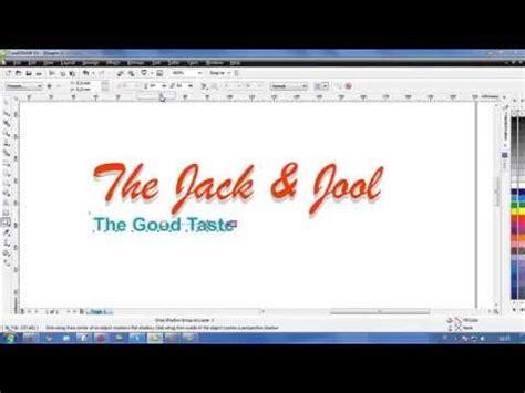 tutorial corel draw efek teks tutorial coreldraw cara membuat efek bayangan teks how