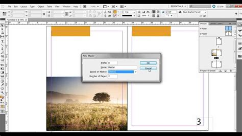 Indesign Creating A Master Page | creating and applying master pages in adobe indesign youtube