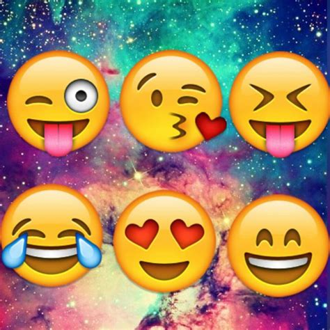 galaxy wallpaper with emoji smiley image 3233275 par patrisha sur favim fr