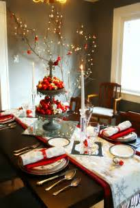 Christmas Table Settings by Diy Christmas Table Decorations Modern Magazin