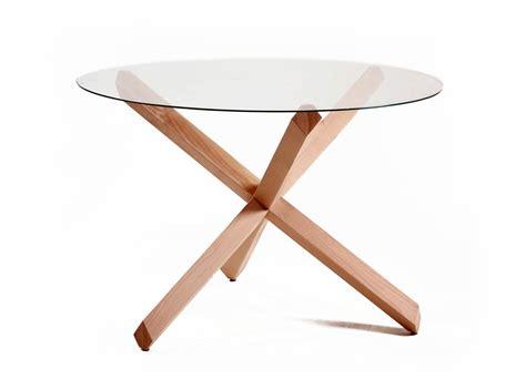 table ronde en verre design brin d ouest