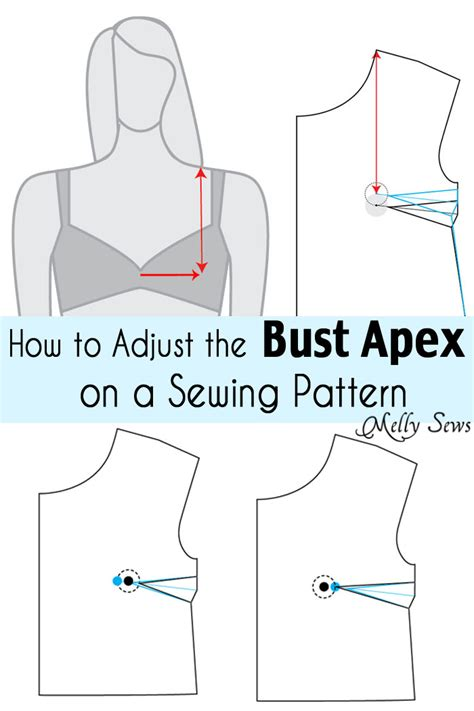 How to Adjust the Bust Apex on a Pattern   Melly Sews