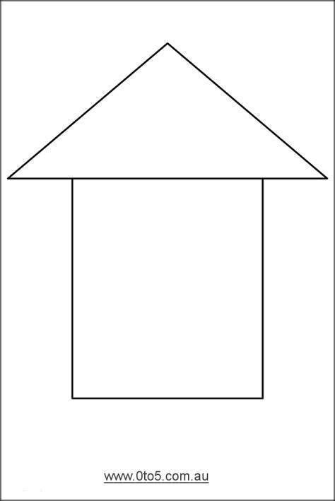 printable house template for free printable house templates printable template