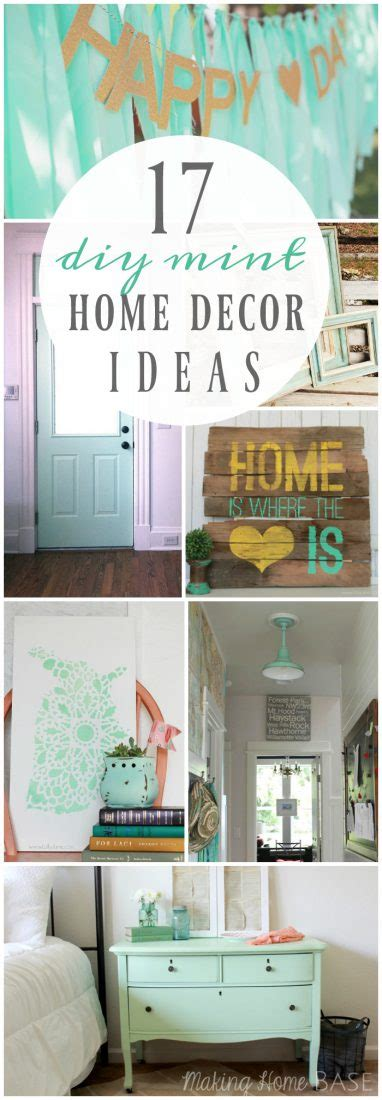 17 diy mint home decor ideas