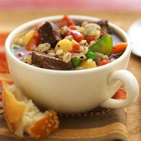 Cook In Barley Soup And Vegetables On Pinterest Better Homes And Gardens Vegetable Beef Soup