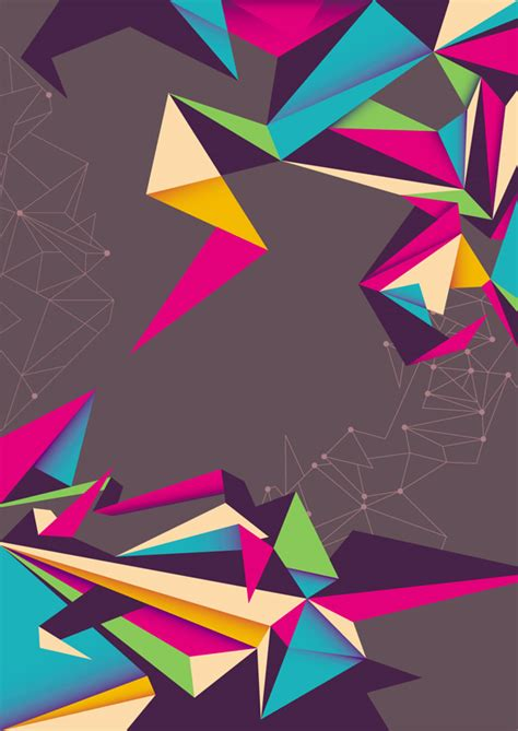 Origami Color - free coloring pages color origami style background vector