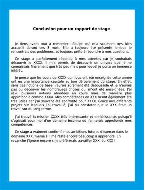 Lettre Motivation Ecole De Foot Conclusion Rapport De Stage Exemple Rapport De Stage