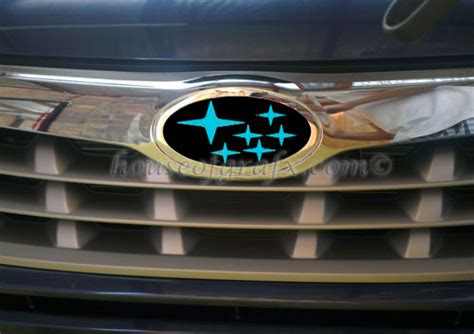 custom subaru emblem emblem overlay vinyl decal graphic fits 09 12 subaru