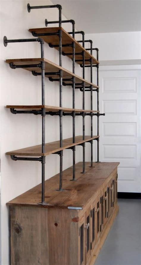 Pipe Shelves Diy Gas Pipe Shelf And Reclaimed Wood Reclaimed Wood Shelving