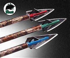broadheads arrow head 6pcs 3 blade hunting outdoors gold