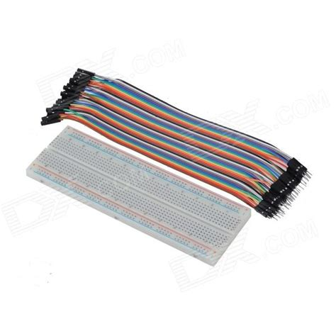 Best Quality Kabel Dupont Famale To mb102 830 point breadboard 40pcs 1p 1p to dupont cable kit for arduino diy free