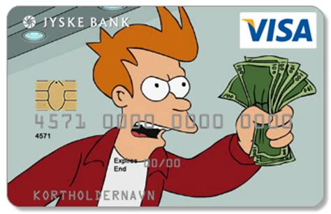 shut up and take my money credit card template my bank just approved my new personal visa card design