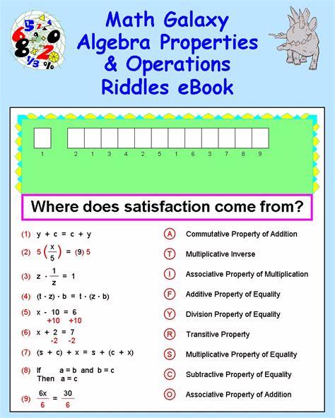 Algebra Properties Worksheet by Worksheet Algebraic Properties Worksheet Caytailoc Free