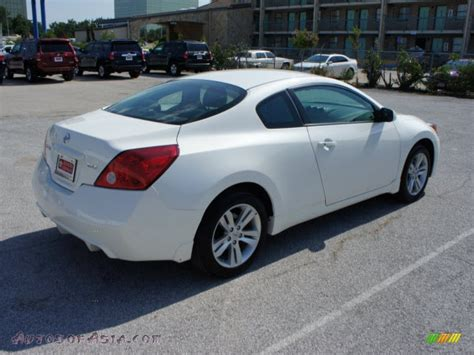nissan altima white 2010 2010 nissan altima 2 5 s coupe in winter white photo