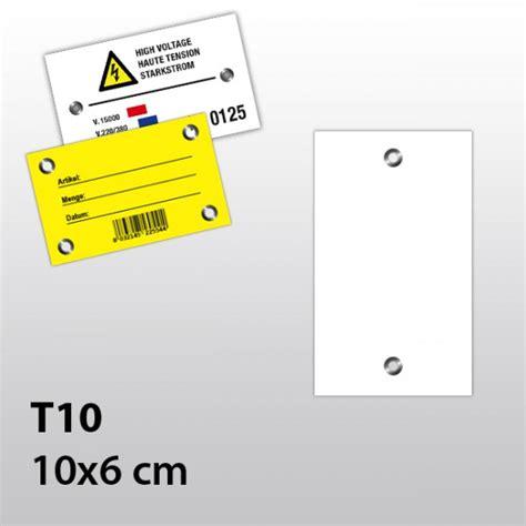 Hängeetiketten by Cartellini Con Occhiello Metallico In Pvc 350 181 T10 Felga