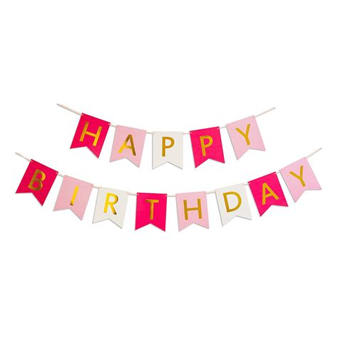 Banner Happy Birthday Pink by Keira Prince Happy Birthday Banner Pink Pastel Pink