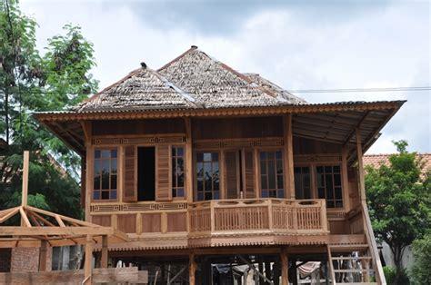 rumah kayu palembang murah  desain cantik