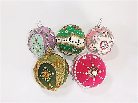 Handmade Ornaments - unique vintage tree ornaments handmade 70 s