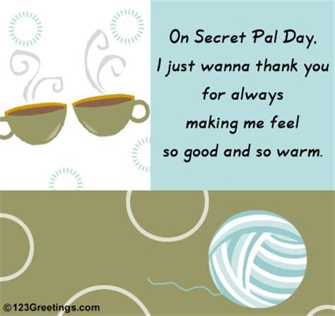 secret pal messages a secret thank you free secret pal day ecards greeting