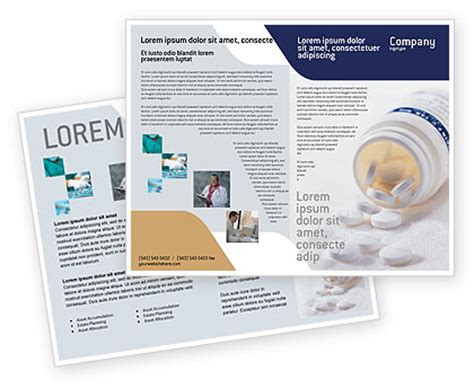 pharmacies brochure template design and layout download