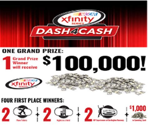Nascar Xfinity Sweepstakes - nascar win a 100 000 check or a trip and ticket to the 2015 nas giveawayus com