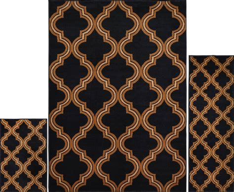 geometric area rugs contemporary 3 pc set modern contemporary geometric area rug runner accent mat carpet ebay