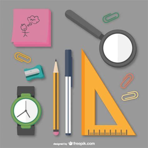 imagenes de objetos de utiles escolares paquete de 250 tiles escolares descargar vectores gratis