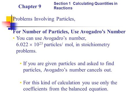 Chapter 9 Section 1 Stoichiometry by Stoichiometry Chapter 9 Table Of Contents Ppt