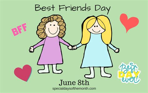 best friends day national best friends day june 8th special days of the