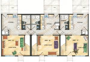 Triplex Home Plans Triplex Floor Plans