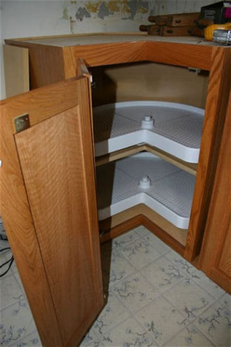 Kitchen Lazy Susan by Eliminate Dead Space In Your Kitchen Cabinet Addons