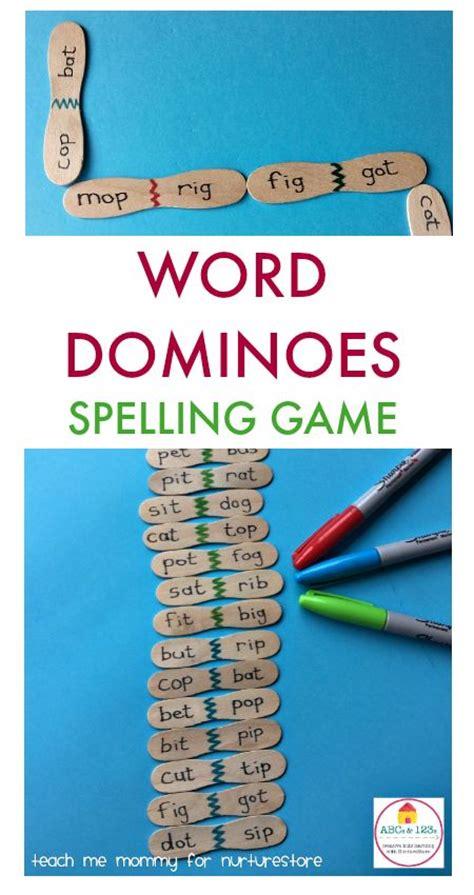Handmade Spelling - word dominoes for cvc words phonics