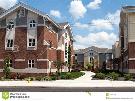 College Appartment by College Cus Housing Stock Photos Image 33033753