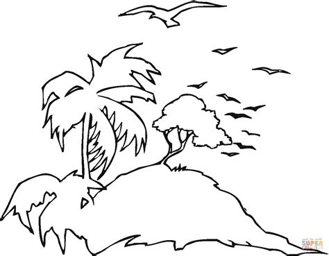 Seagulls At Island Coloring Page Free Printable Coloring Island Coloring Pages