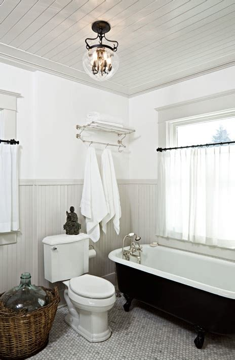 Beadboard Ceiling Bathroom by Gray Beadboard Cottage Bathroom Helgerson