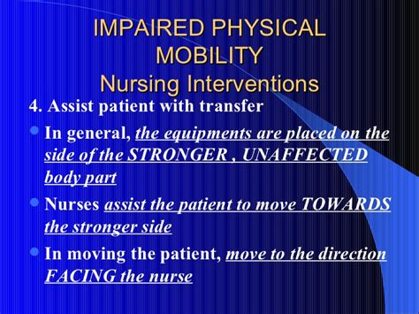 Impaired Bed Mobility by Nursing Rehabilitation