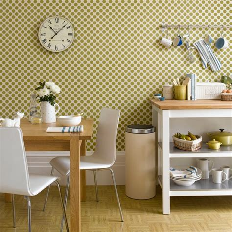 geometric green wallpaper kitchen wallpaper ideas 10 of the best housetohome co uk