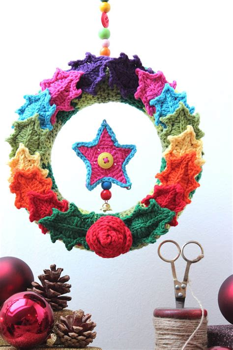 crocheted christmas tree ornaments look chic2014 interior